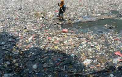 Ramassage ordures à Djakarta